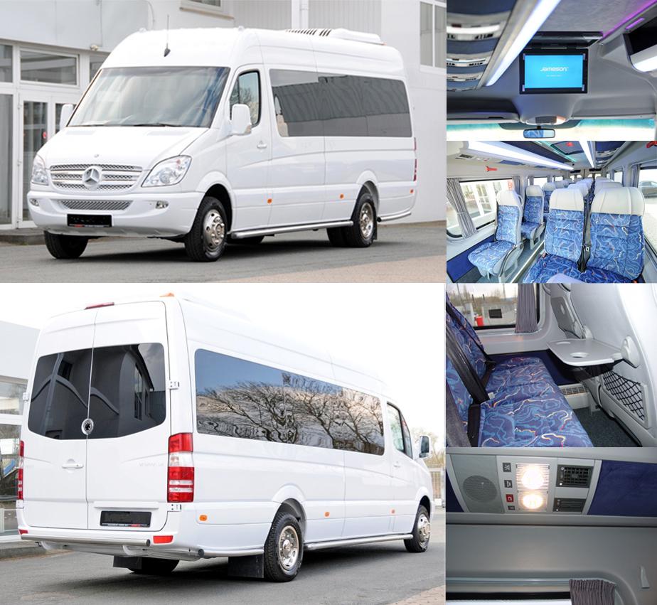 kleinbus komfort f r mittlere reisegruppen bus transfer europa. Black Bedroom Furniture Sets. Home Design Ideas